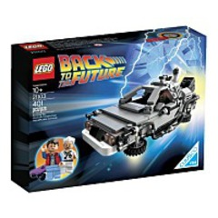 Discount 21103 The De Lorean Time Machine Building